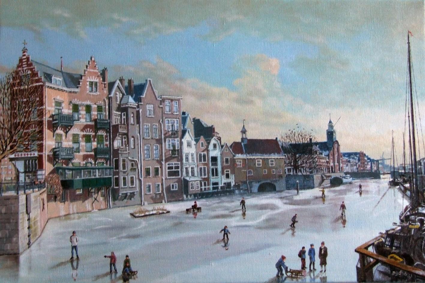 Rotterdam Delfshaven In De Winter Agdj